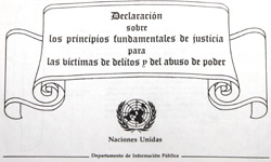 Declaration on Basic Principles of Justice for Victims of Crime and Abuse of power